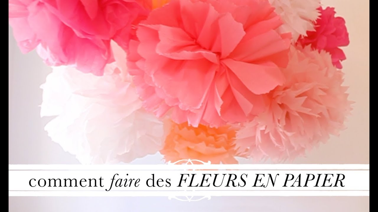 Tuto d co comment faire des fleurs en papier youtube - Faire des decoration de noel en papier ...