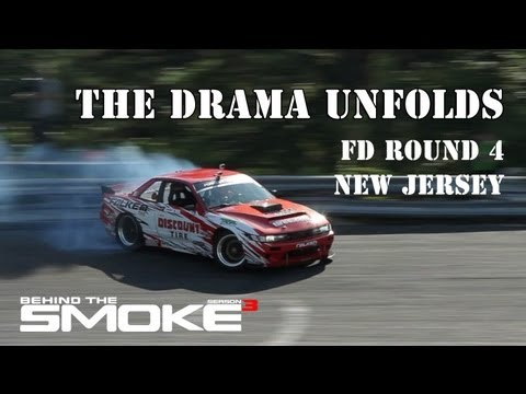 The Drama Unfolds - Formula Drift Rd 4 - New Jersey - Daijiro Yoshihar