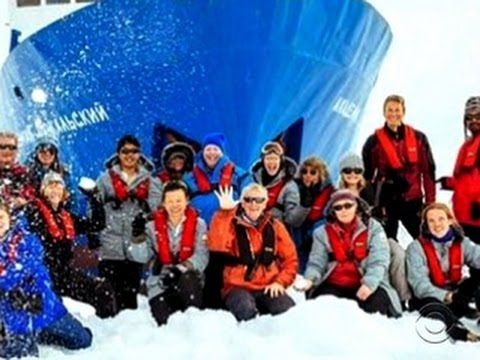 Stranded ship passengers in Antarctica hope for helicopter rescue