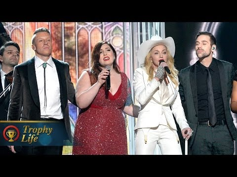 "Madonna & Macklemore Wedding Performance ""Same Love"" ""Open Your Heart"" Grammys 2014"