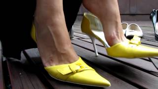 Yellow High Heels Dangling