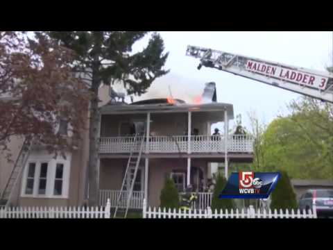 Mass. firefighter injured battling 3-alarm fire