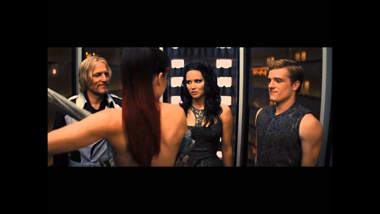 The Hunger Games: Catching Fire- Elevator Scene (Johanna