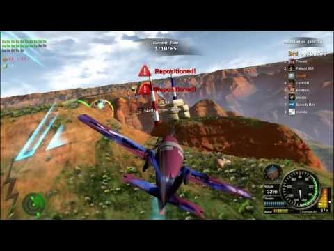 Racing game Altitude0 gameplay - Crash through