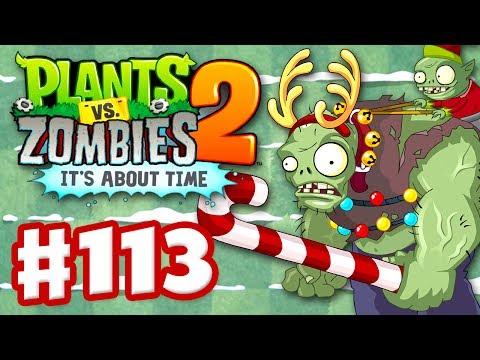 Plants vs. Zombies 2: It's About Time - Gameplay Walkthrough Part 113 - Gargantuar Feastivus! (iOS)