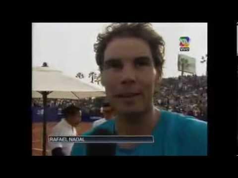Rafael Nadal defeats David Ferrer in exhibition match in Lima, Peru 7-5, 6-4