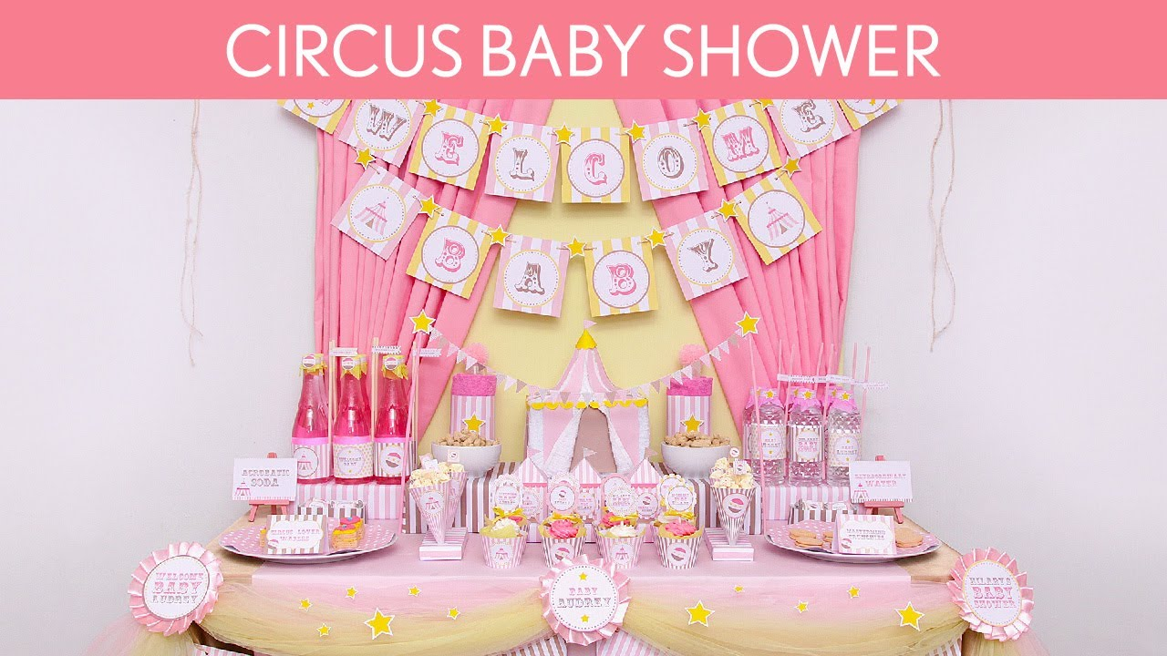 circus pink baby shower party ideas circus pink s8 youtube