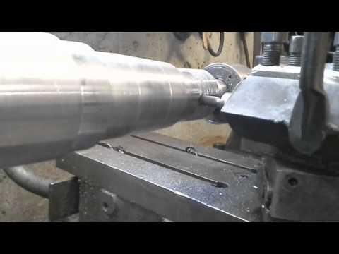 Cutting lock washer groove in lathe