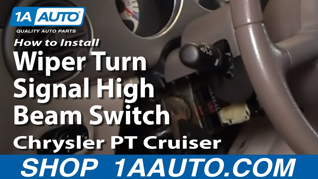 install replace wiper turn signal high beam switch