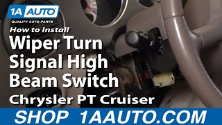 How To Install Replace Wiper Turn Signal High Beam Switch