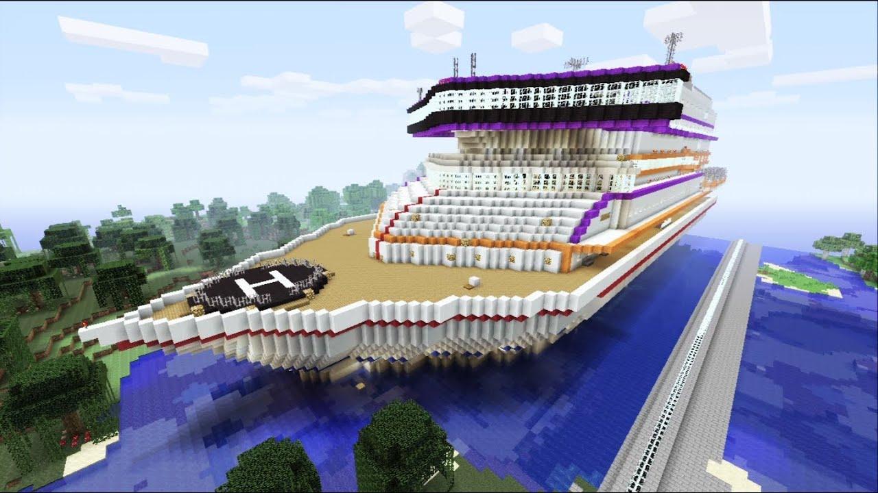 Minecraft Xbox - Luxory Cruise Ship - Prestige Sur La Mer - Part 1 - YouTube