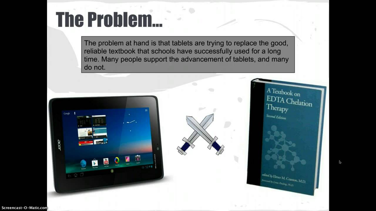 Textbook vs tablets essay