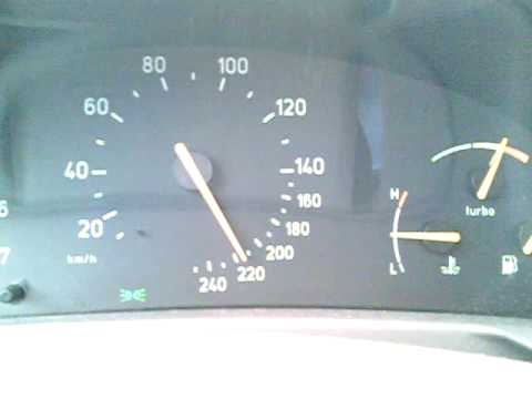 saab 9-3 aero 5th gear acceleration (100-230)