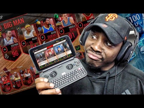 PLAYING NBA LIVE MOBILE & FIFA ON HANDHELD LAPTOP! GPD WIN Unboxing