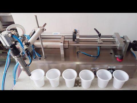 100ml-1000ml spout bag filling machine juice pneumatic liquid filler Abfüllmaschine für plastiktüte