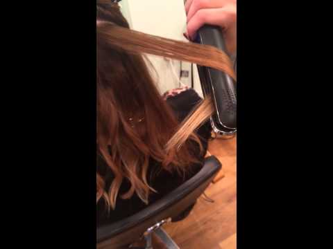 How to wave hair using ghd stylers