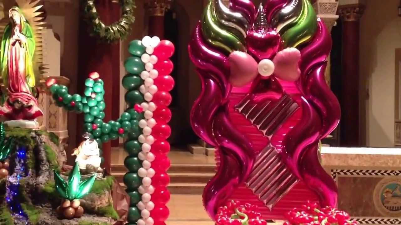 Decoración con globos de la virgen de Guadalupe - YouTube