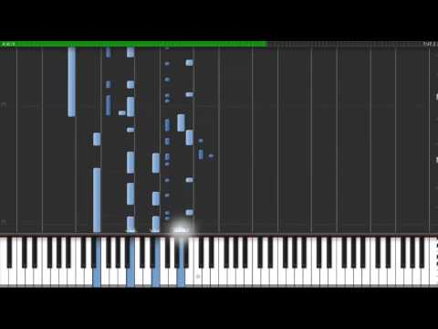 (50%) Daft Punk - Get Lucky Synthesia Tutorial  (Sheet Music) Piano (HD)