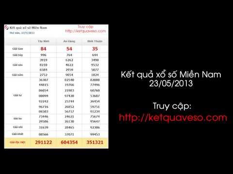 Xổ số Miền Nam ngày 23/05/2013 - ketquaveso.com
