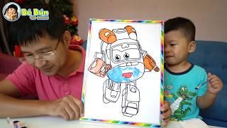 Trò Chơi Tô Màu Robot ♥ Bé Bắp ♥ Coloring Robot