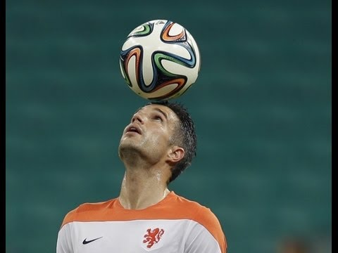 Robin Van Persie Header Goal ~ Netherlands vs Spain 5-1 ~ World Cup 2014