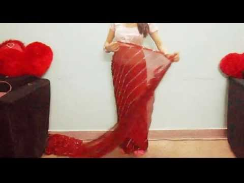How To Wear Bollywood Saree Drape-How To Wrap Sari For Party Look/Saree tutorial video