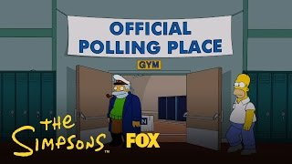 Simpsons: Homer Votes 2012, Barack Obama or Mitt Romney?