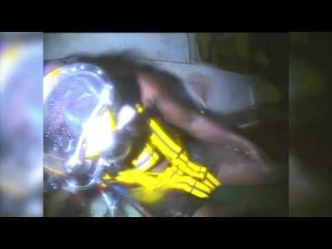 Raw: Divers Find Man Alive in Sunken Tugboat