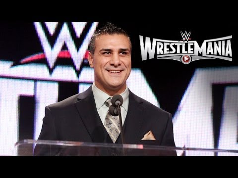 Alberto Del Rio speaks at the WrestleMania 31 Press Conference