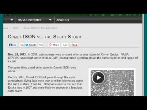 Huge Update! NASA Now Says Comet ISON Orbit 582,666 Years & Can't Predict Outcome!