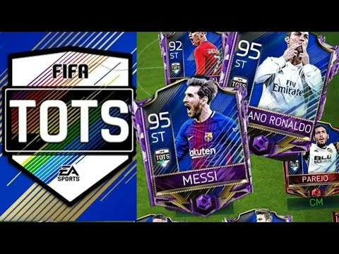 FIFA MOBILE 18- INSANE TOTS PACK OPENING 4 LA LIGA PLAYERS PULLED!!!!!!