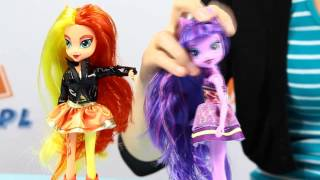Twilight Sparkle & Sunset Shimmer Dolls Dwupak