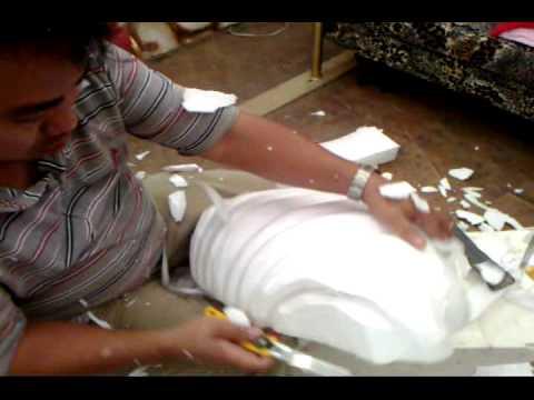 rzeźbienie w styropianie