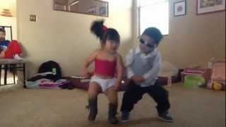 Gangnam style - little psy and baby