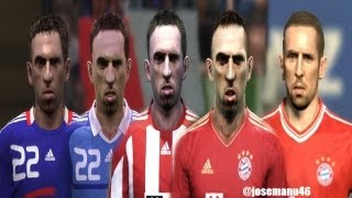 Franck RIBERY From PES 4 To PES 2014 (FACE Evolution