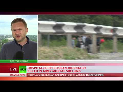 Russian journalist killed in Ukraine mortar shelling