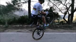 Bikers Riopardo   Peter Sagan mostra habilidades montado em sua bicicleta