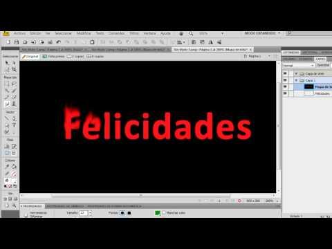 Curso de Adobe Fireworks CS4 - Efecto de texto con fuego