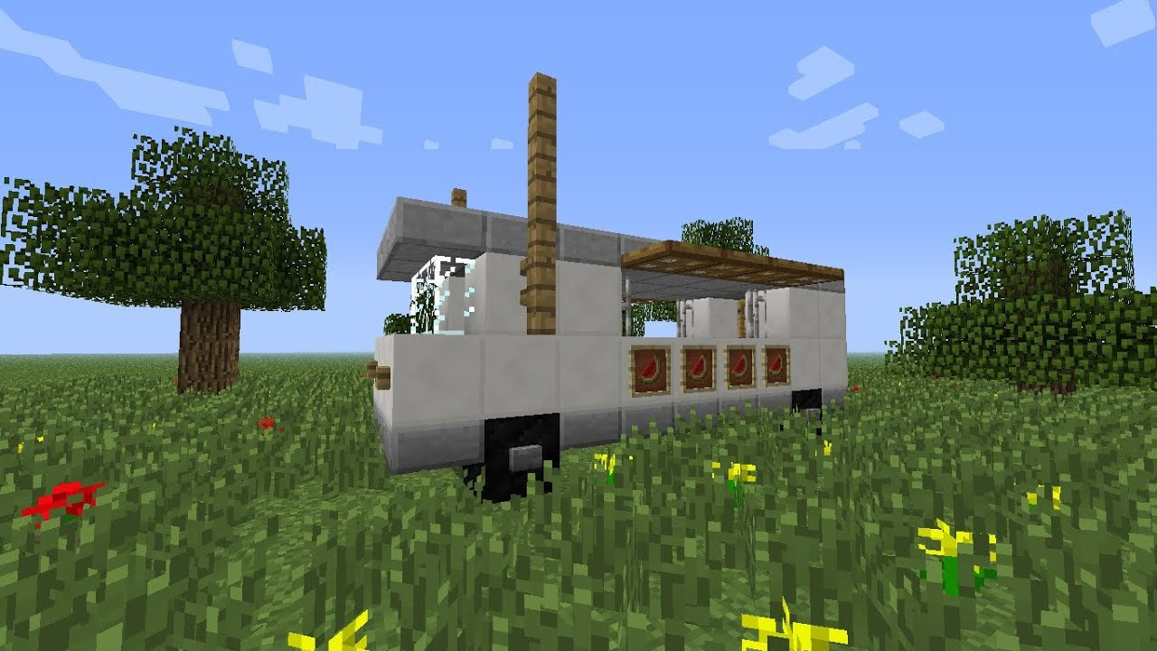 How To Build A Food Truck In Minecraft