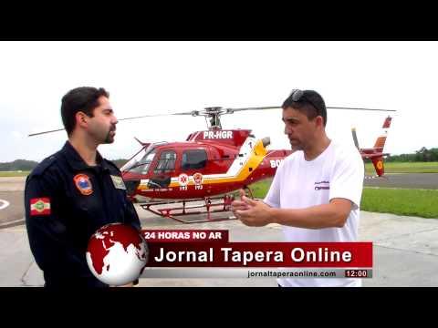 RESGATE AÉREO PROCEDIMENTOS Dr. Wilian Médico Tripulante explica Procedimentos 12-04-2014