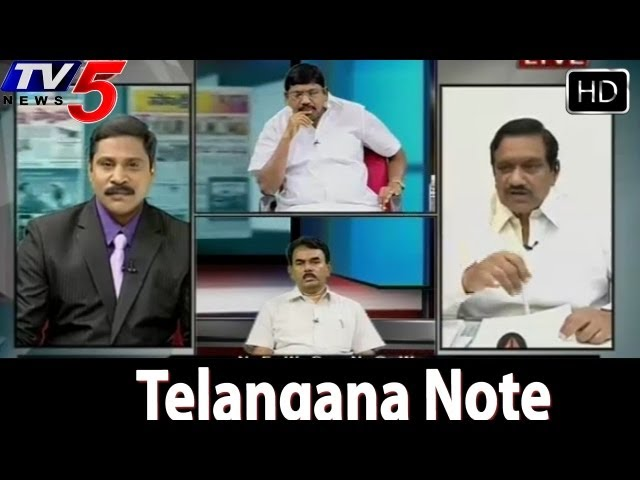 Telangana Cabinet Note Debate On News Scan - TV5