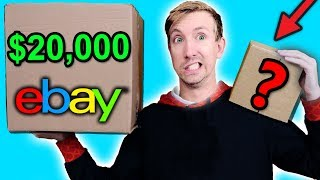 $10 VS $20,000 EBAY MYSTERY BOX Challenge Unboxing Haul! (Penny worth more than Bitcoin?!)