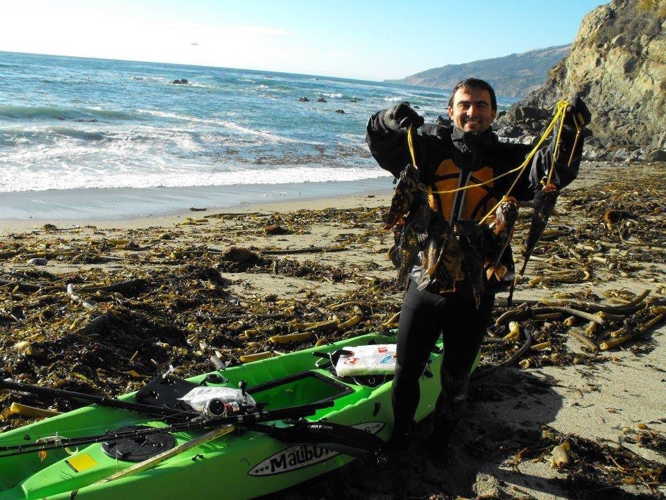 Big sur kayak rockfish and lingcod fishing california for Big sur fishing