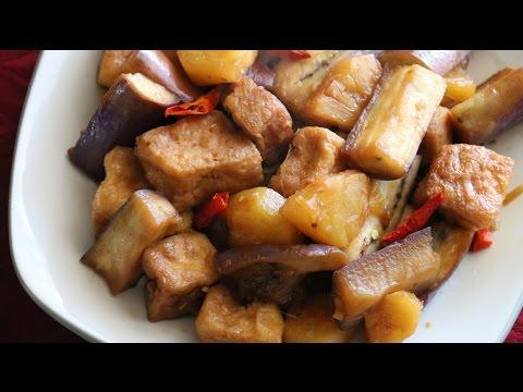 Ca Tim Kho Tau Hu (Vegetarian Braised Eggplants and Tofu) Recipe