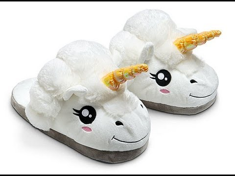 Plush Unicorn Slippers for Grown Ups from ThinkGeek