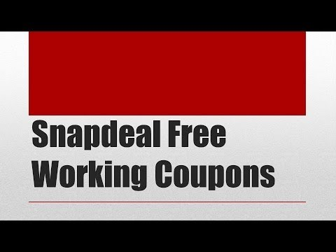 Snapdeal Coupons April 2014