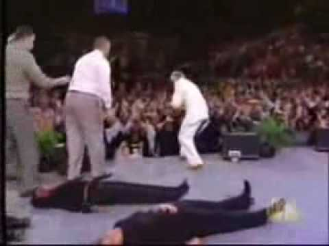 Benny hinn let the bodies hit the floor by drowning pool for 1 let the bodies hit the floor