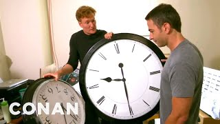 Conan Catches Jordan Schlansky Coming In Late