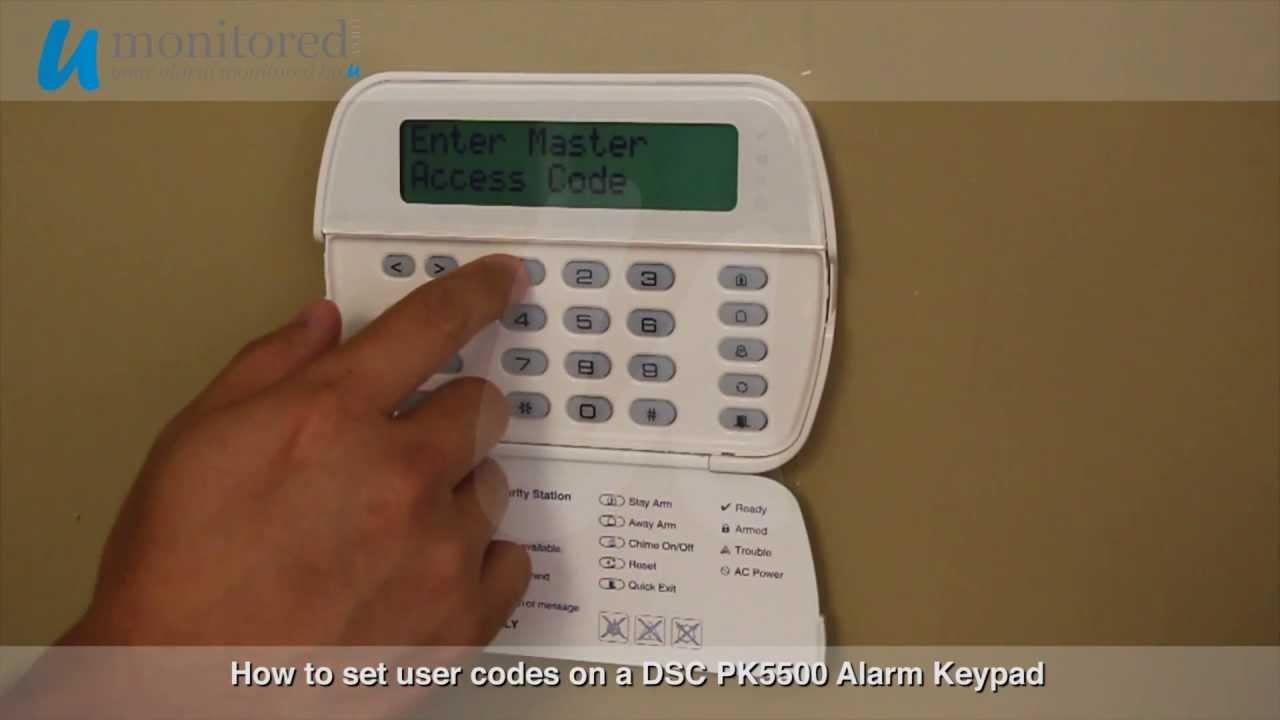 Dsc Program User Codes On A Dsc Pk5500 Alarm Keypad