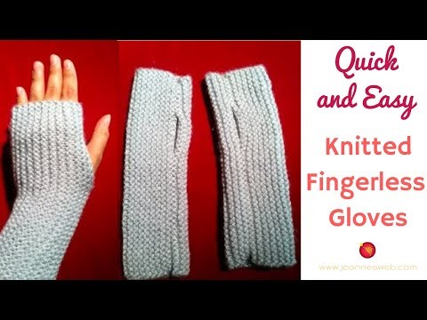 Knit fingerless gloves tutorial
